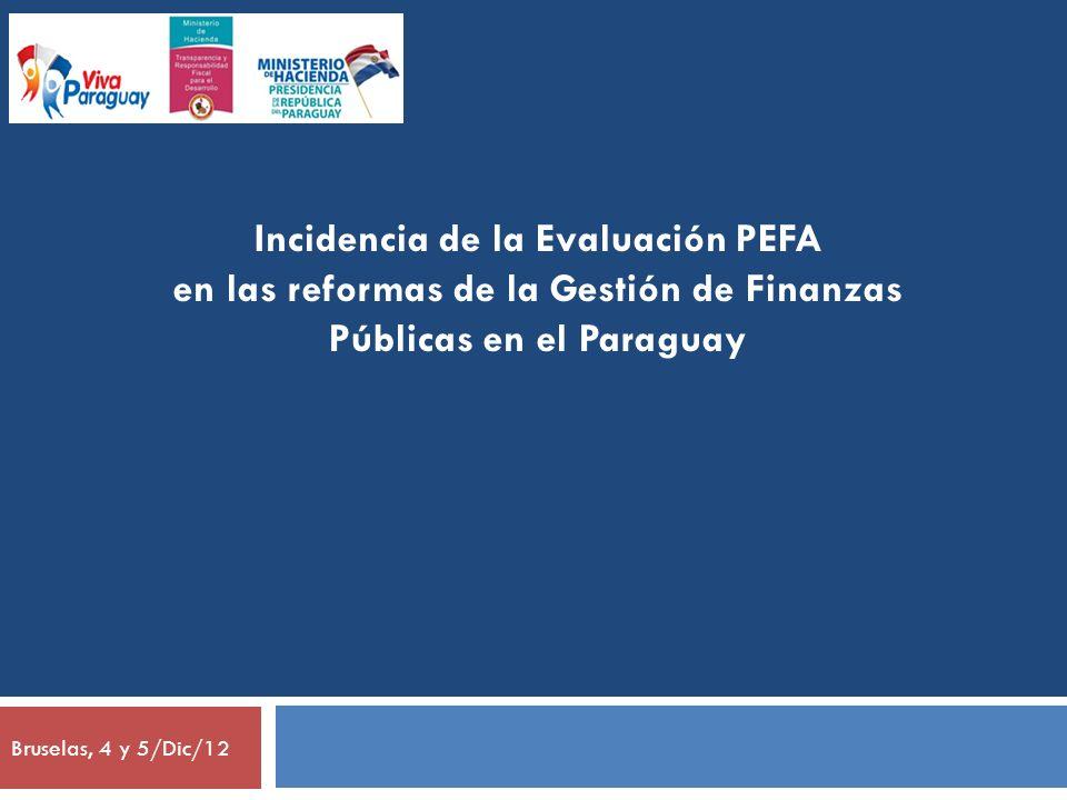 Incidencia de la Evaluación PEFA
