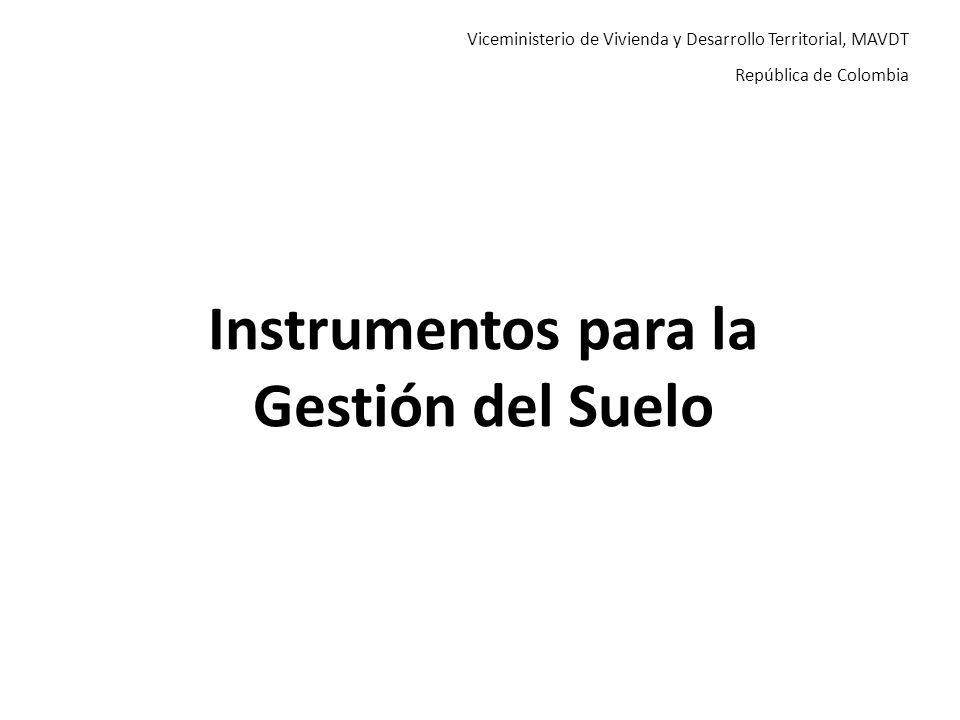 Instrumentos para la Gestión del Suelo