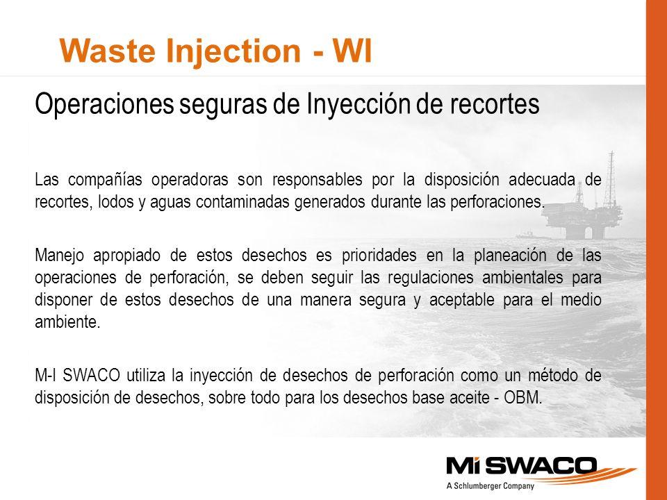 Waste Injection - WI Operaciones seguras de Inyección de recortes