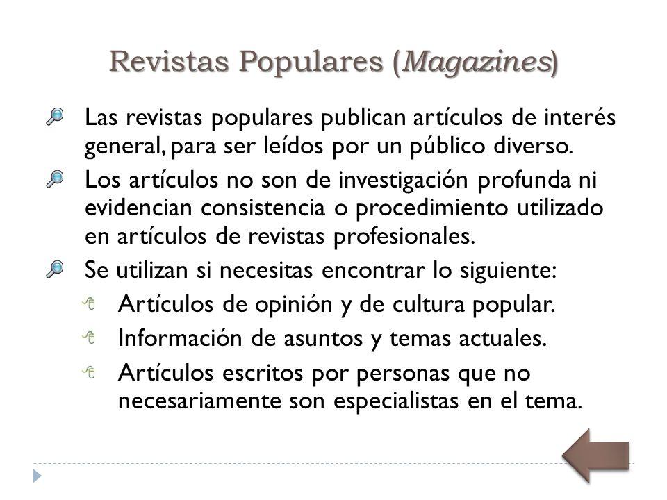 Revistas Populares (Magazines)