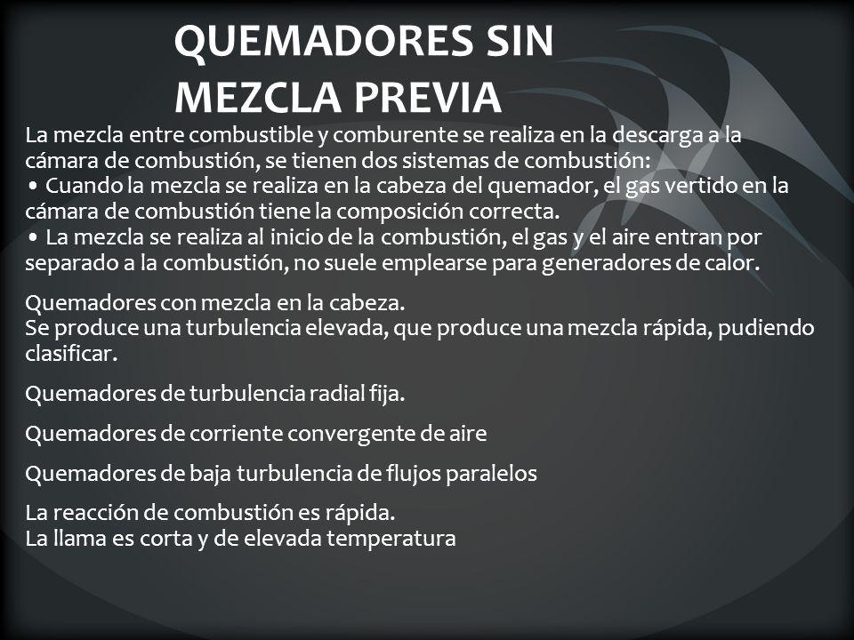 QUEMADORES SIN MEZCLA PREVIA