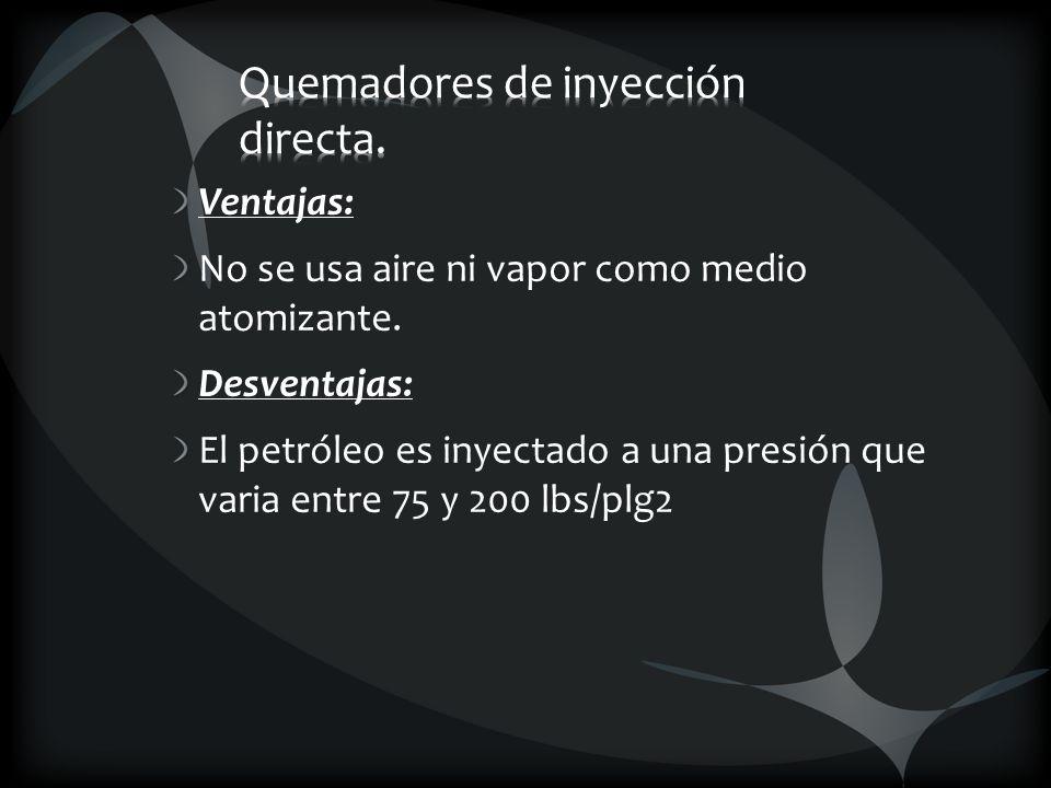 Quemadores de inyección directa.