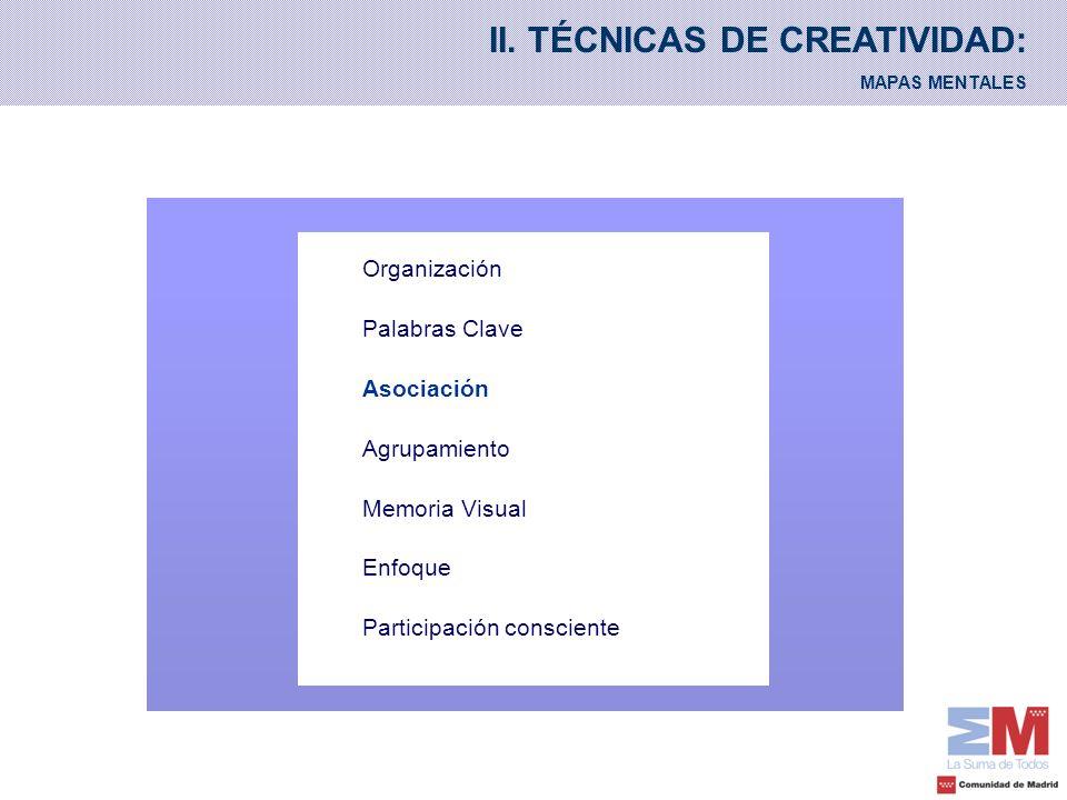 II. TÉCNICAS DE CREATIVIDAD: