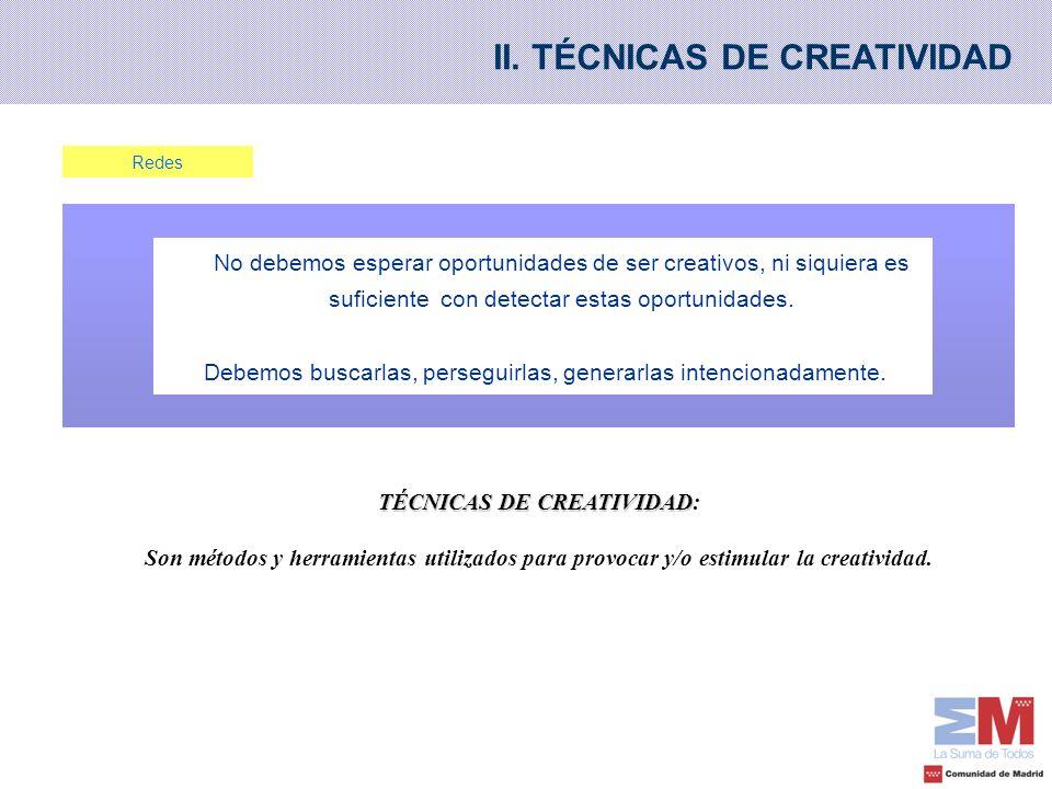 TÉCNICAS DE CREATIVIDAD: