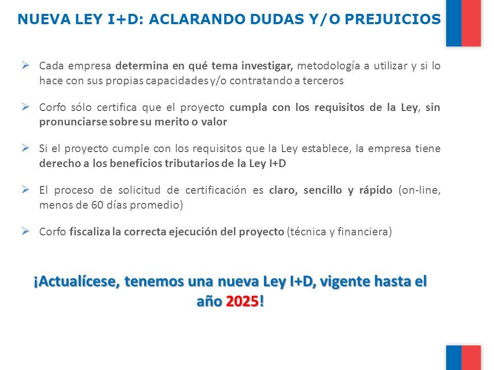 NUEVA LEY I+D: ACLARANDO DUDAS Y/O PREJUICIOS