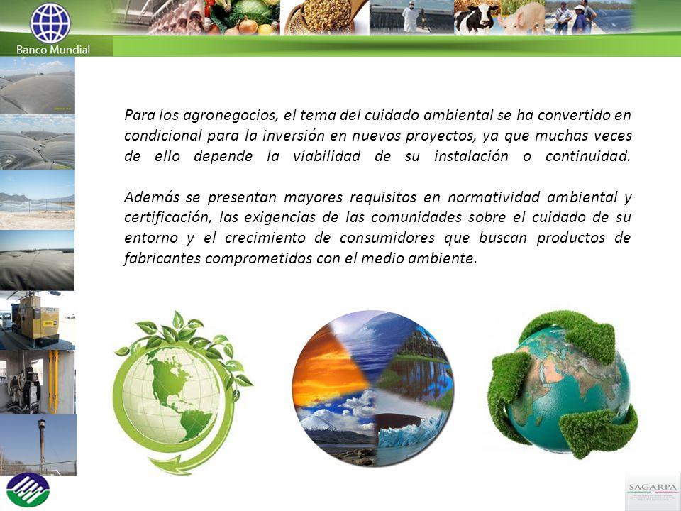 Para los agronegocios, el tema del cuidado ambiental se ha convertido en condicional para la inversión en nuevos proyectos, ya que muchas veces de ello depende la viabilidad de su instalación o continuidad.