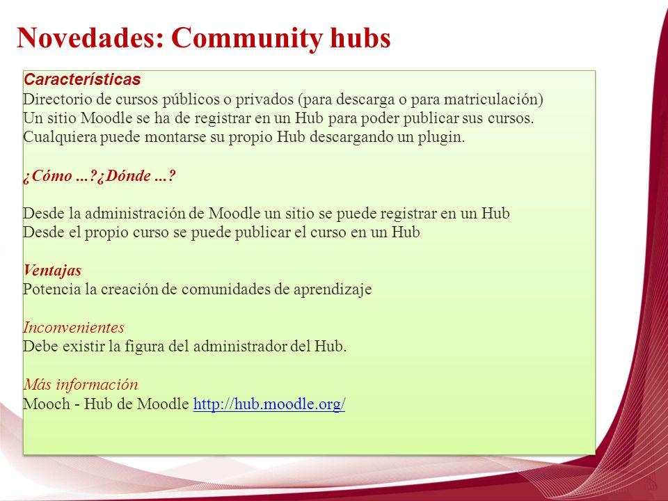 Novedades: Community hubs