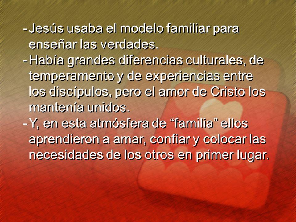 Jesús usaba el modelo familiar para enseñar las verdades.