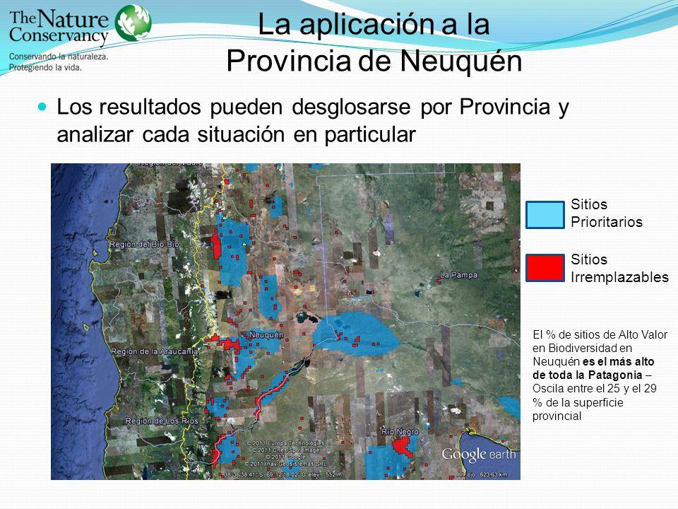 La aplicación a la Provincia de Neuquén