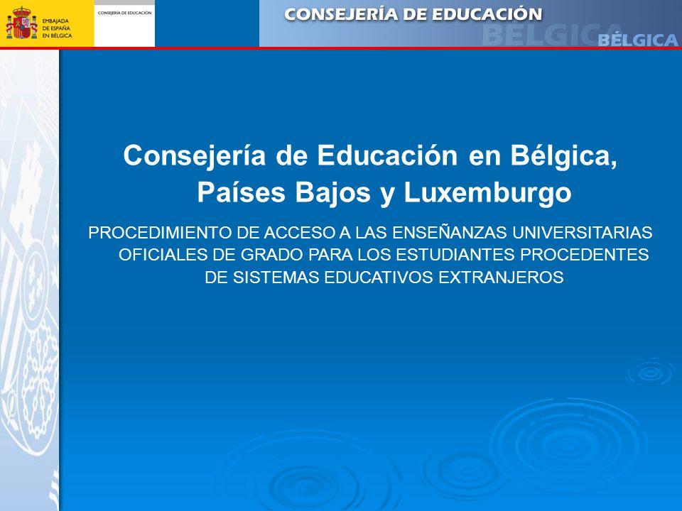Consejería de Educación en Bélgica, Países Bajos y Luxemburgo