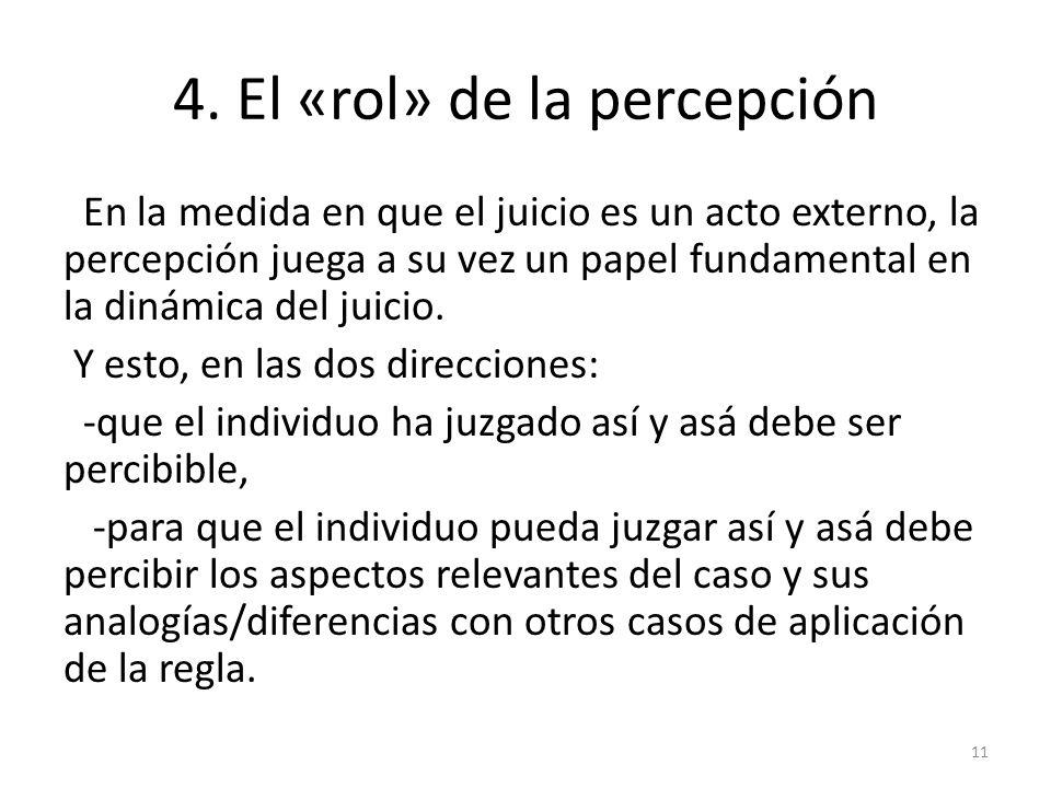 4. El «rol» de la percepción