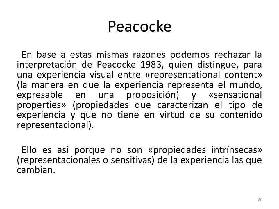 Peacocke