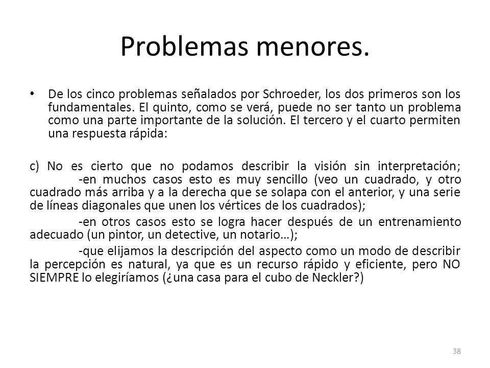 Problemas menores.