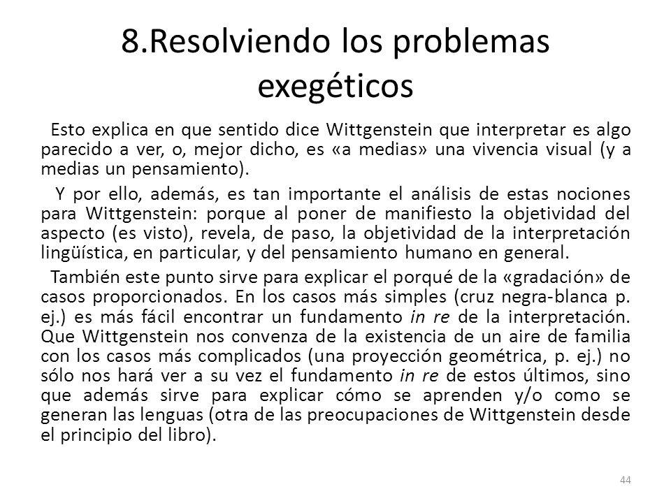 8.Resolviendo los problemas exegéticos