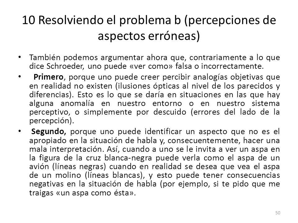 10 Resolviendo el problema b (percepciones de aspectos erróneas)