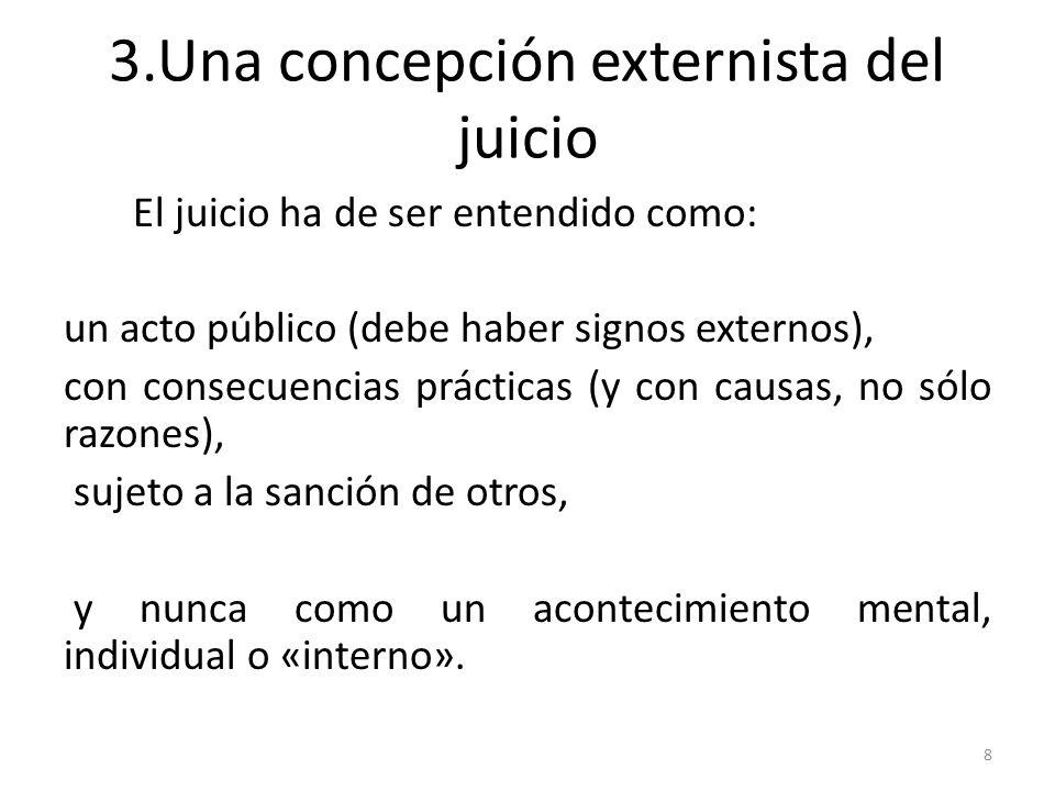 3.Una concepción externista del juicio