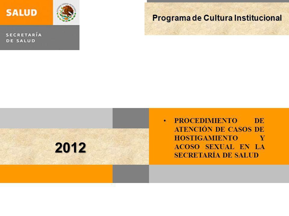 2012 Programa de Cultura Institucional