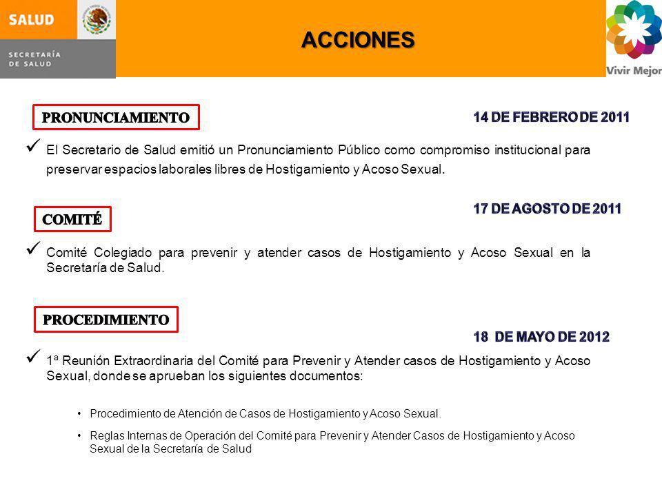 ACCIONES PRONUNCIAMIENTO COMITÉ PROCEDIMIENTO 14 DE FEBRERO DE 2011