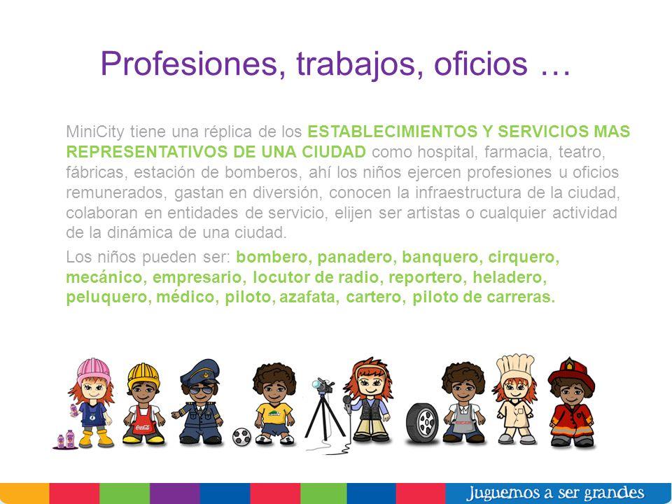 Profesiones, trabajos, oficios …