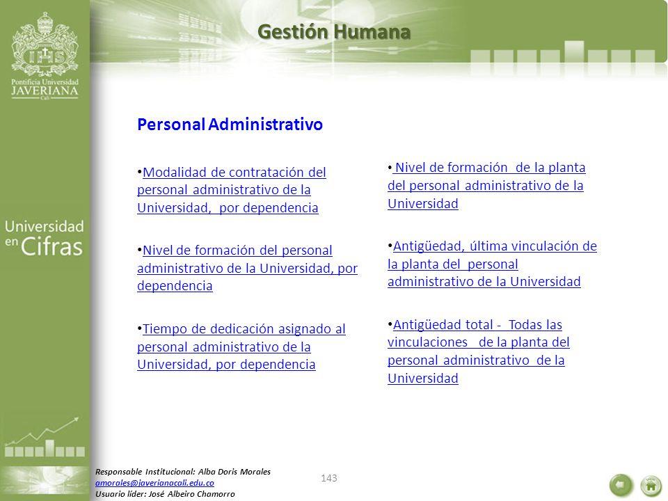 Gestión Humana Personal Administrativo