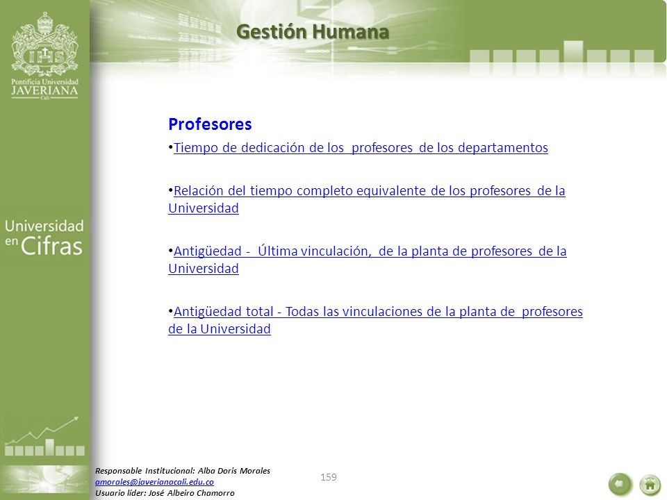 Gestión Humana Profesores