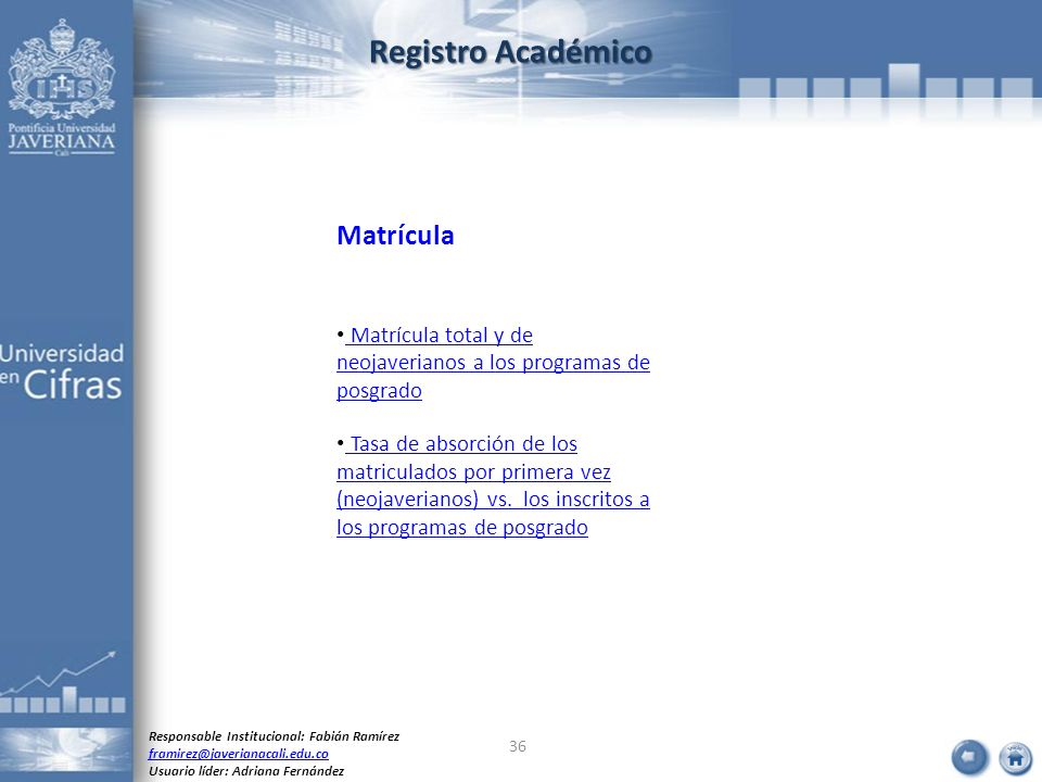 Registro Académico Matrícula