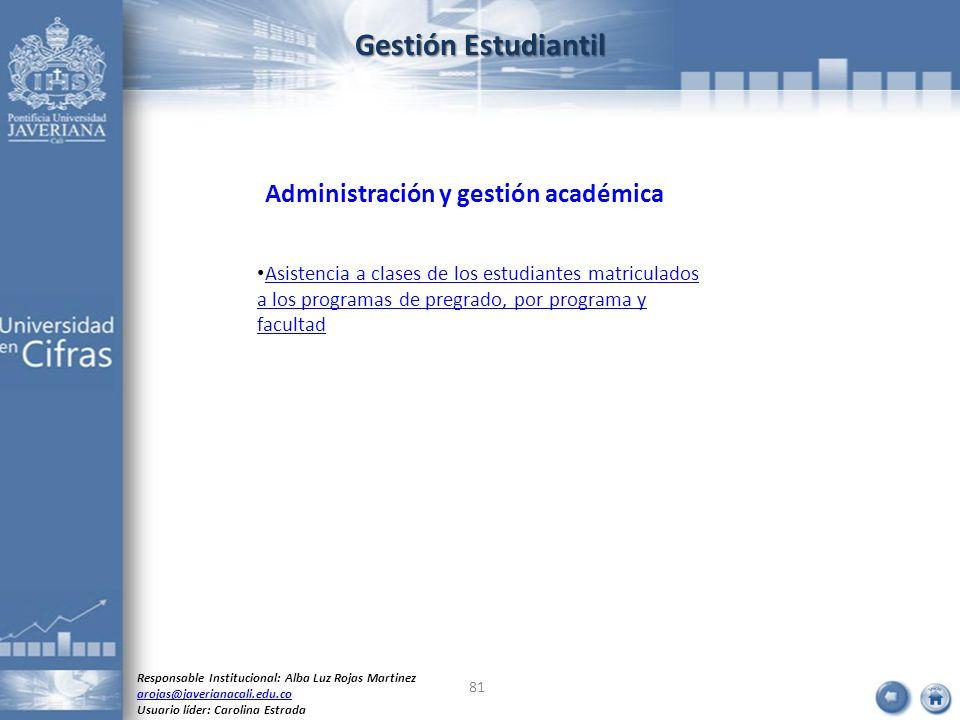 Gestión Estudiantil Administración y gestión académica
