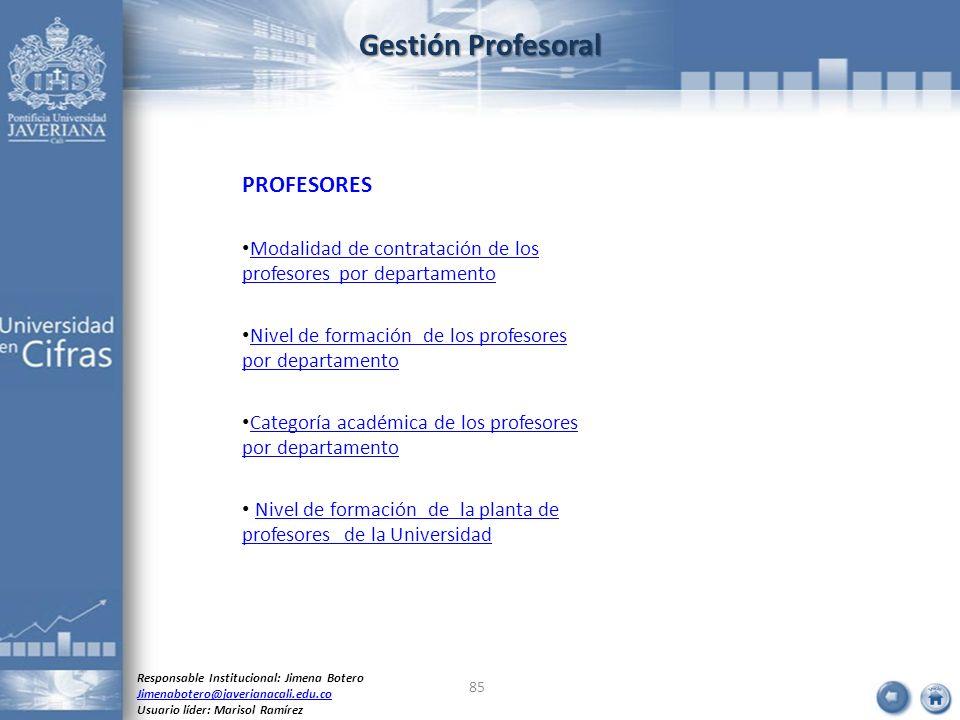 Gestión Profesoral PROFESORES