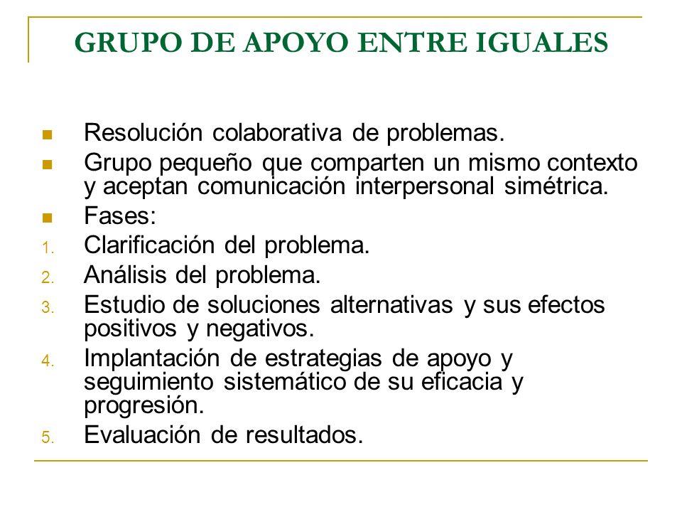 GRUPO DE APOYO ENTRE IGUALES