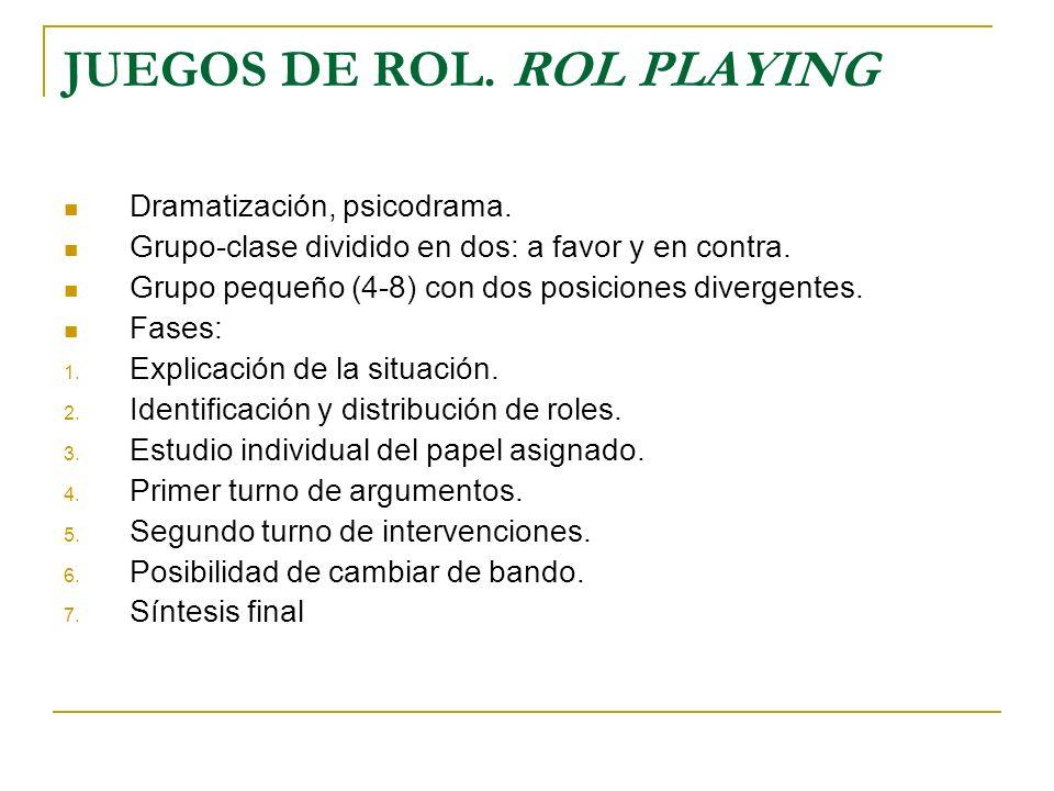 JUEGOS DE ROL. ROL PLAYING