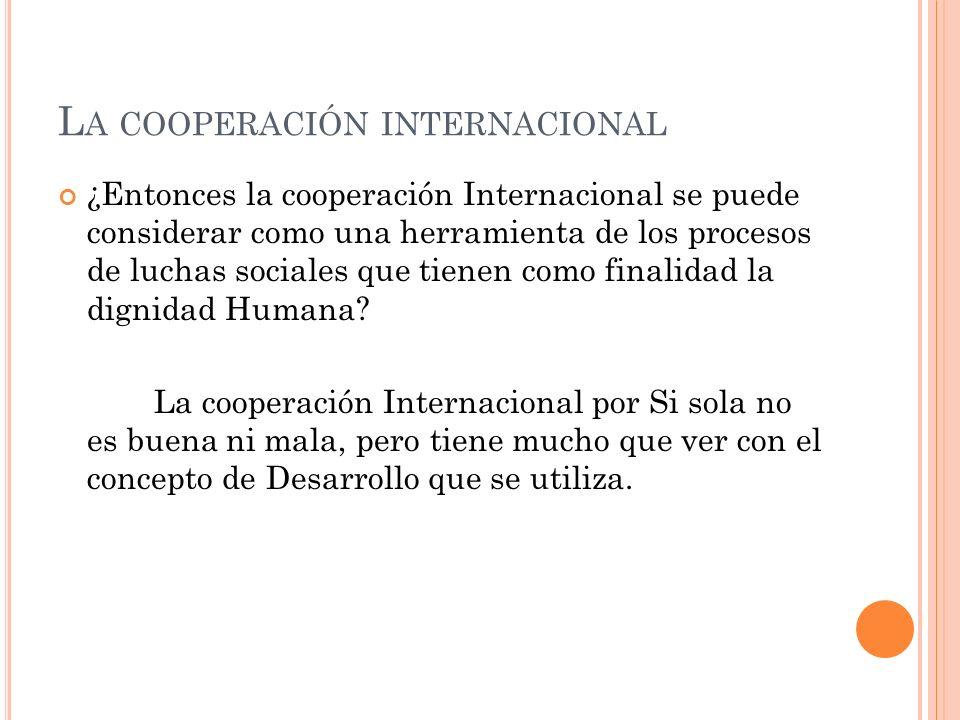 La cooperación internacional