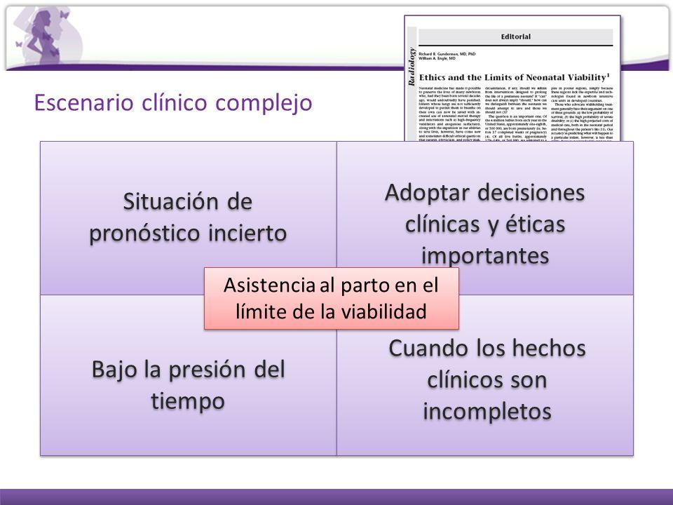 Escenario clínico complejo