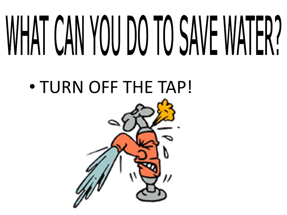 WHAT CAN YOU DO TO SAVE WATER