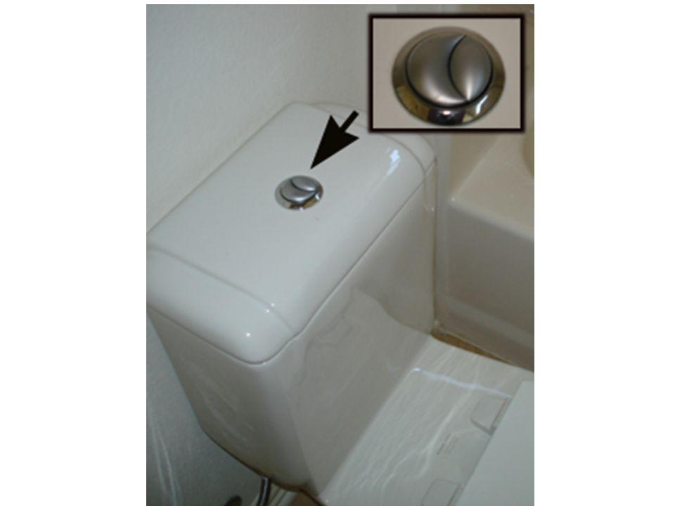Dual-flush or low-flush toilets.