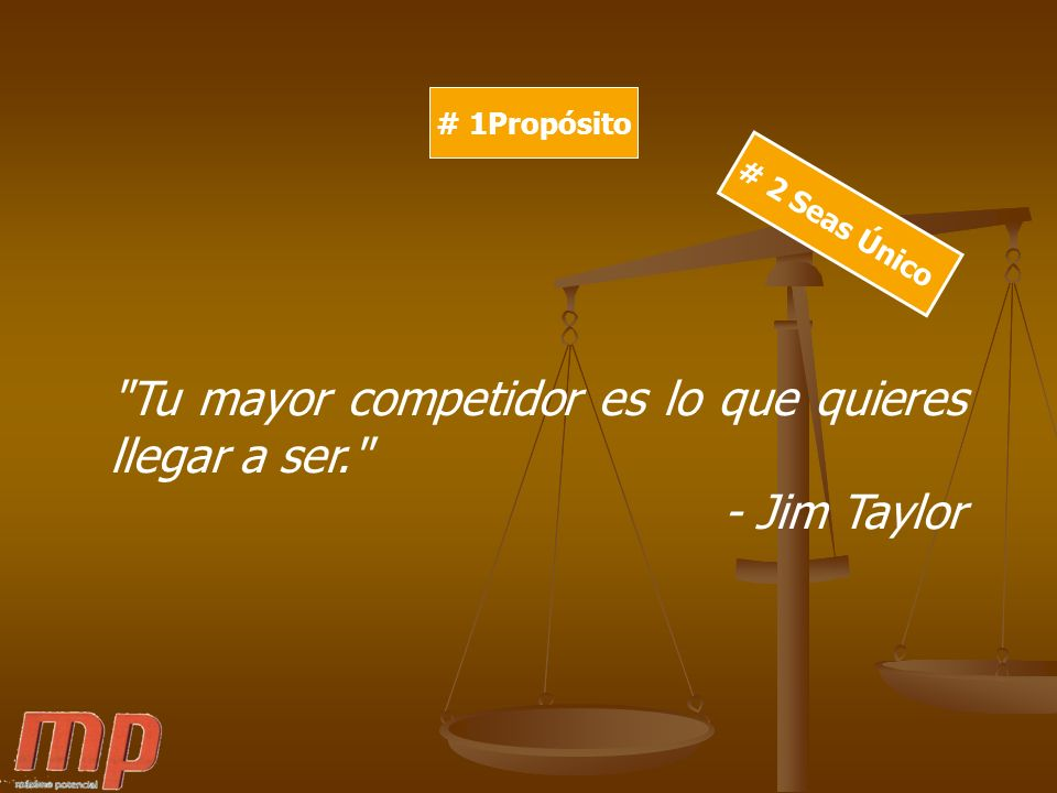 Tu mayor competidor es lo que quieres llegar a ser. - Jim Taylor