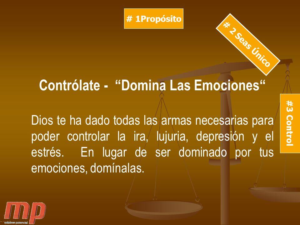 Contrólate - Domina Las Emociones
