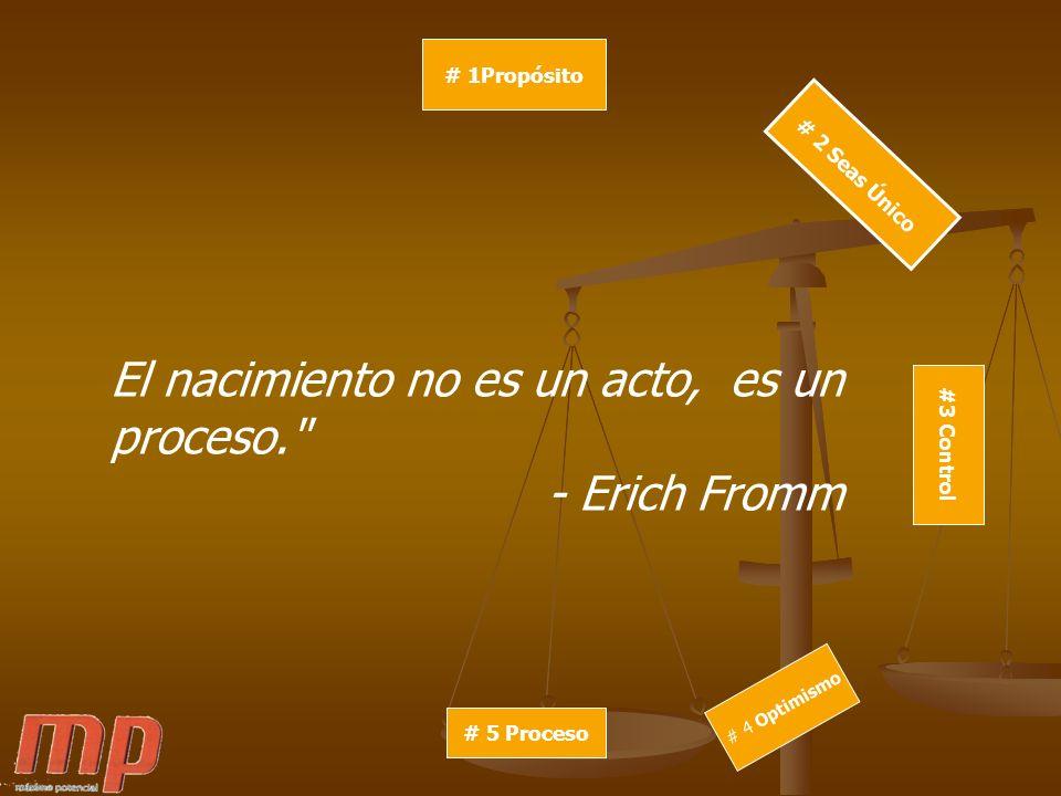 El nacimiento no es un acto, es un proceso. - Erich Fromm
