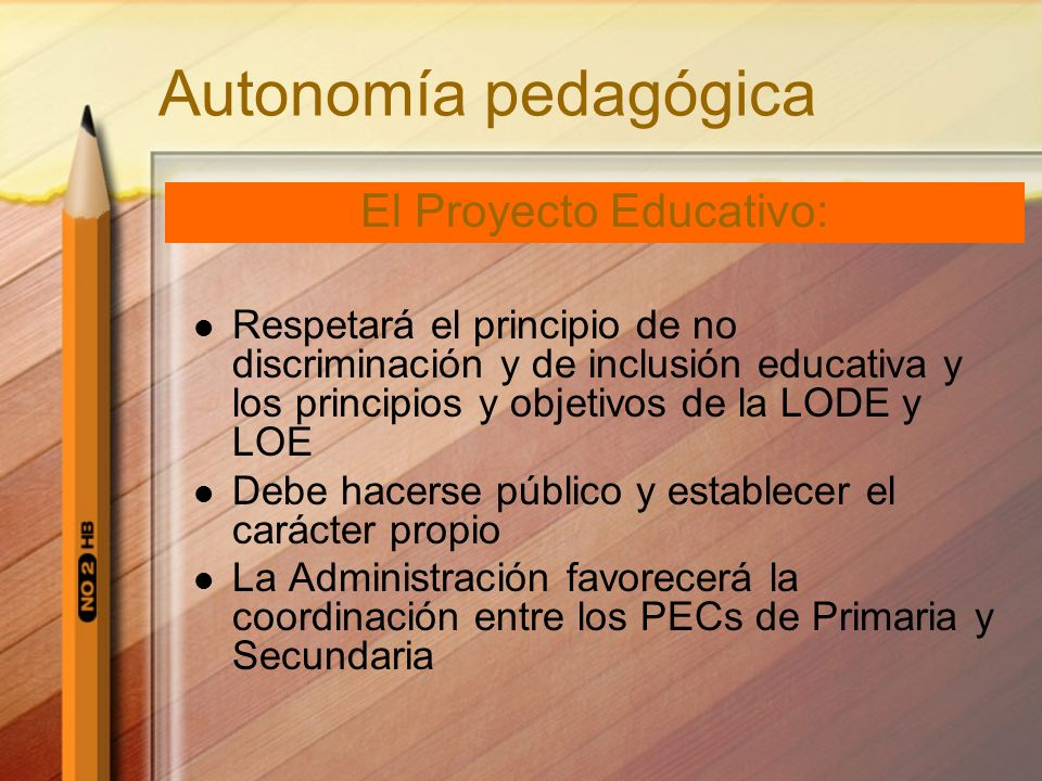 El Proyecto Educativo: