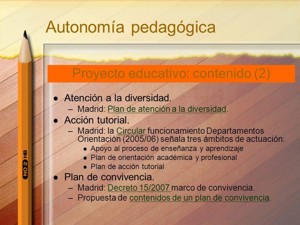 Proyecto educativo: contenido (2)