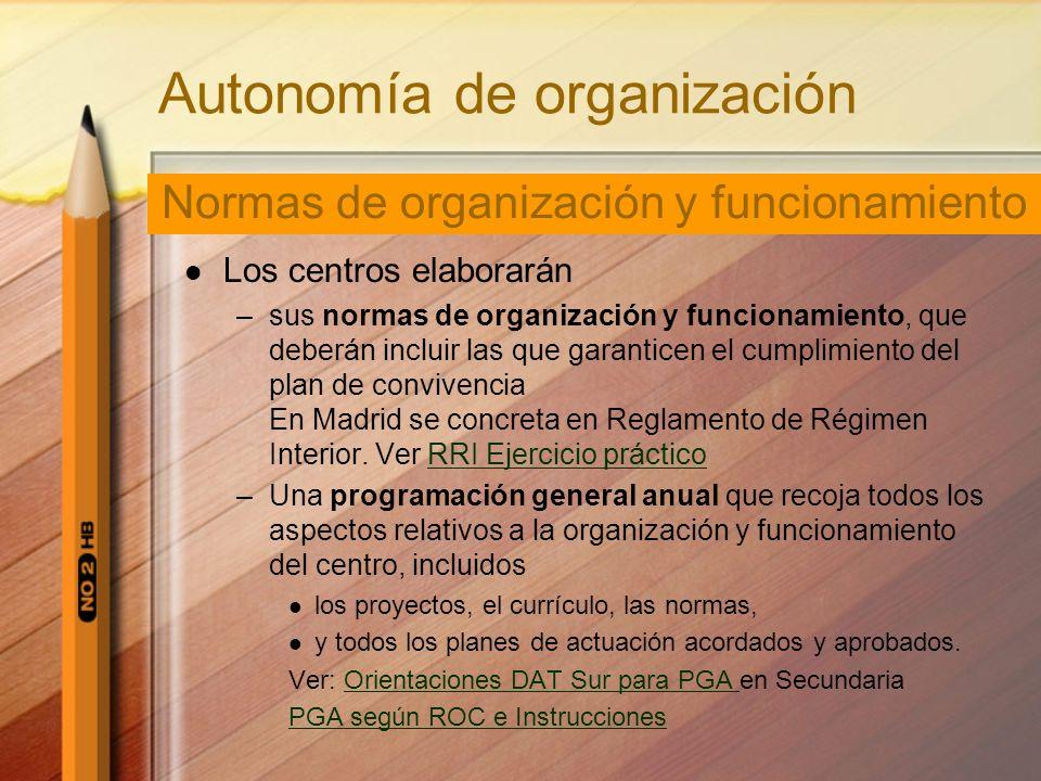 Autonomía de organización