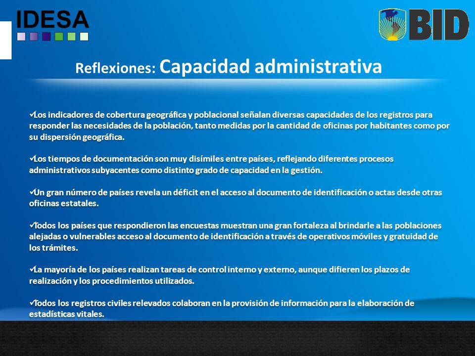 Reflexiones: Capacidad administrativa