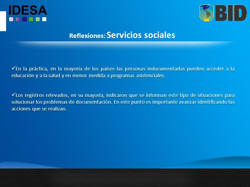 Reflexiones: Servicios sociales