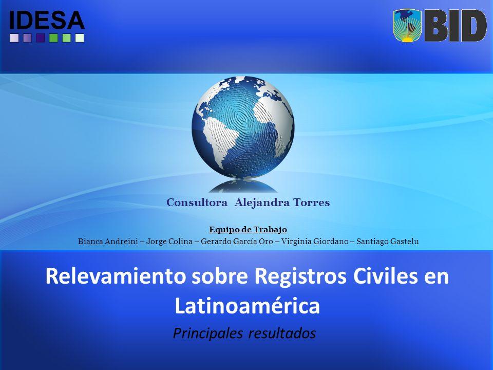 Relevamiento sobre Registros Civiles en Latinoamérica