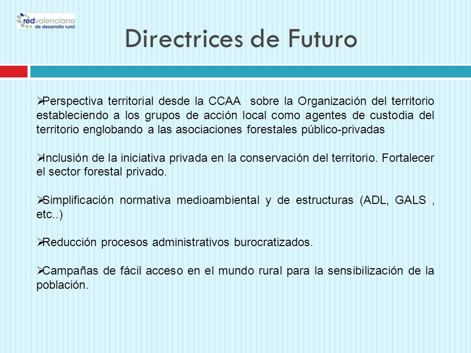 Directrices de Futuro