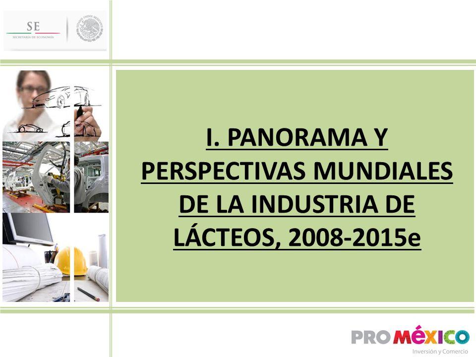 I. PANORAMA Y PERSPECTIVAS MUNDIALES DE LA INDUSTRIA DE LÁCTEOS, 2008-2015e