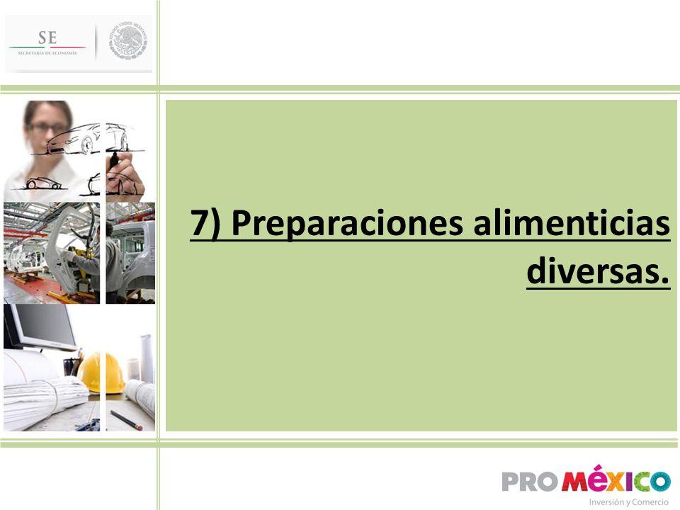 7) Preparaciones alimenticias diversas.