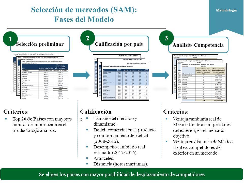 Selección de mercados (SAM):