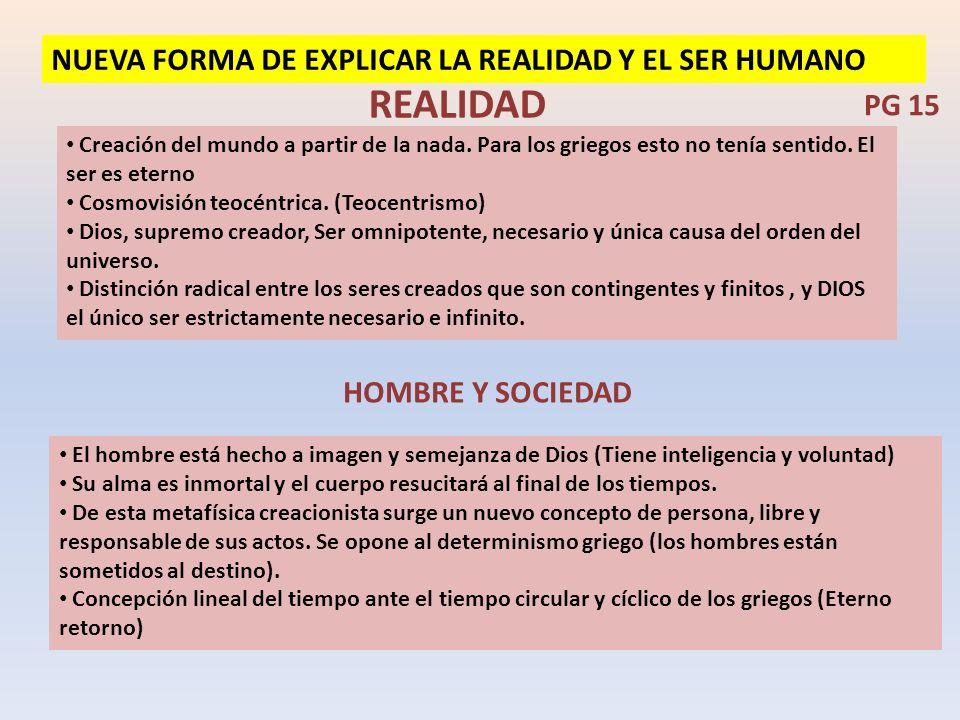 REALIDAD NUEVA FORMA DE EXPLICAR LA REALIDAD Y EL SER HUMANO PG 15