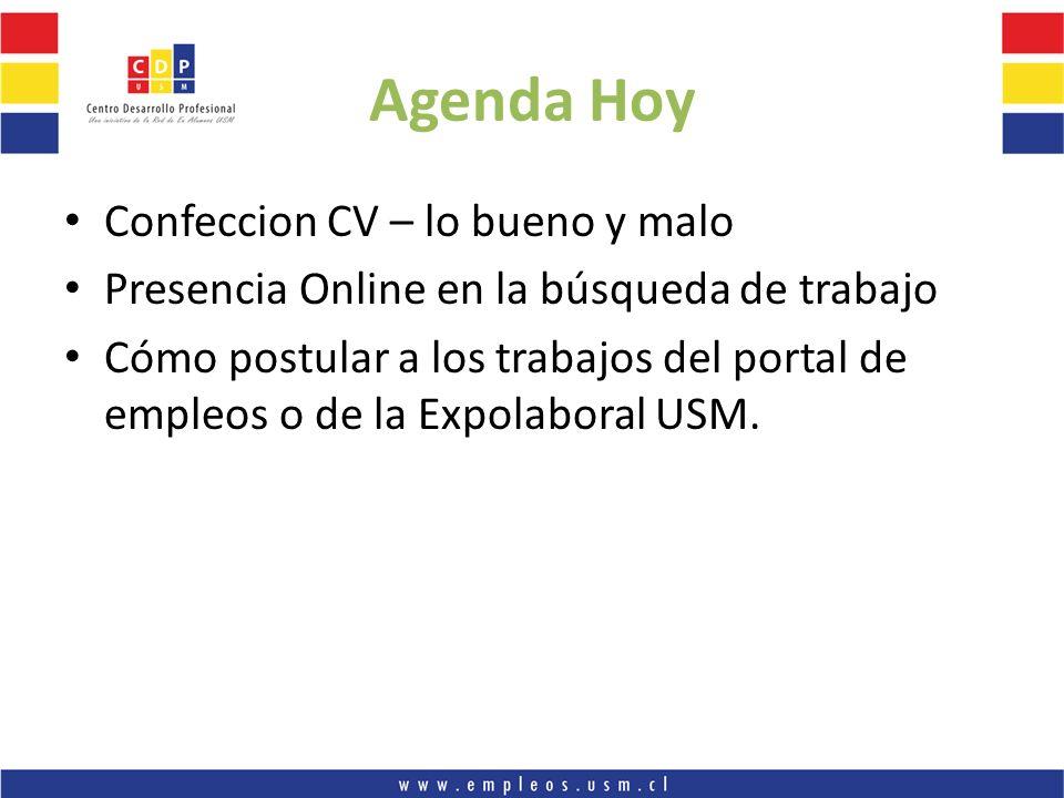 Agenda Hoy Confeccion CV – lo bueno y malo