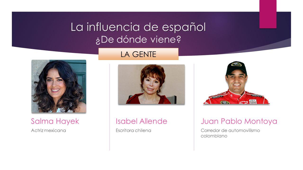 La influencia de español ¿De dónde viene